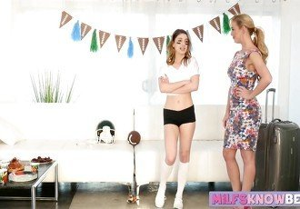 Raunchy teen and her sexy stepmom