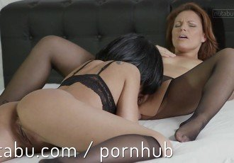 Naughty lesbian fucks young lover