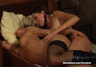 Sensual and Rough Lesbian Sex With