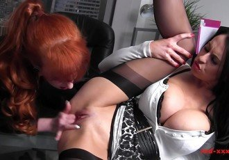 MILF Red office fuck session with a