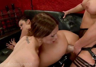Hot Lesbian Anal Fisting Threesome