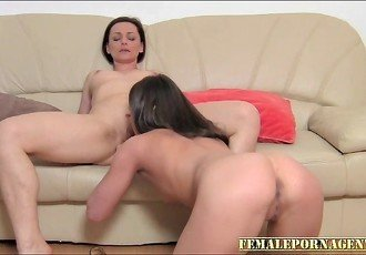 Hungarian Babe does lesbian casting