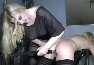 Domina and her submissive lesbian